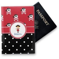 Girl's Pirate & Dots Vinyl Passport Holder (Personalized)
