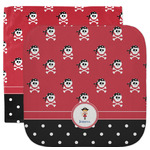 Girl's Pirate & Dots Facecloth / Wash Cloth (Personalized)