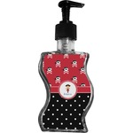 Girl's Pirate & Dots Wave Bottle Soap / Lotion Dispenser (Personalized)