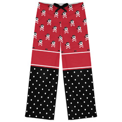 Girl's Pirate & Dots Womens Pajama Pants (Personalized)