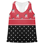 Girl's Pirate & Dots Womens Racerback Tank Top (Personalized)