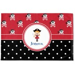 Girl's Pirate & Dots Woven Mat (Personalized)