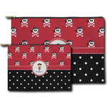 Girl's Pirate & Dots Zipper Pouch (Personalized)