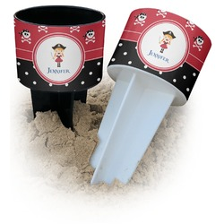 Girl's Pirate & Dots Beach Spiker Drink Holder (Personalized)