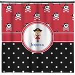Girl's Pirate & Dots Shower Curtain (Personalized)