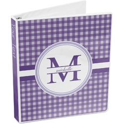 Gingham Print 3-Ring Binder (Personalized)