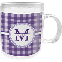 Gingham Print Acrylic Kids Mug (Personalized)