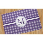 Gingham Print Area Rug (Personalized)