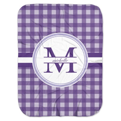 Gingham Print Baby Swaddling Blanket (Personalized)