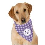 Gingham Print Dog Bandana Scarf w/ Name and Initial
