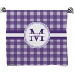 Gingham Print Full Print Bath Towel (Personalized)