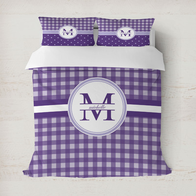Gingham Print Duvet Cover (Personalized)