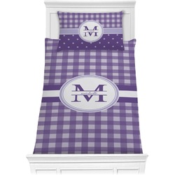 Gingham Print Comforter Set - Twin XL (Personalized)