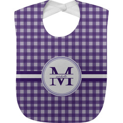 Gingham Print Baby Bib (Personalized)