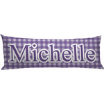 Gingham Print Body Pillow Case (Personalized)