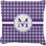Gingham Print Faux-Linen Throw Pillow (Personalized)