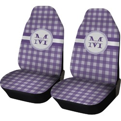 Gingham Print Car Seat Covers (Set of Two) (Personalized)