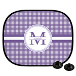 Gingham Print Car Side Window Sun Shade (Personalized)