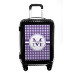 Gingham Print Carry On Hard Shell Suitcase (Personalized)