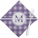 Gingham Print Napkins (Set of 4) (Personalized)