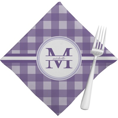 Gingham Print Cloth Napkins (Set of 4) (Personalized)