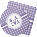 Gingham Print Rubber Backed Coaster (Personalized)