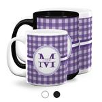 Gingham Print Coffee Mugs (Personalized)