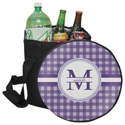 Gingham Print Collapsible Cooler & Seat (Personalized)