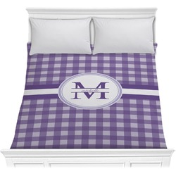 Gingham Print Comforter (Personalized)