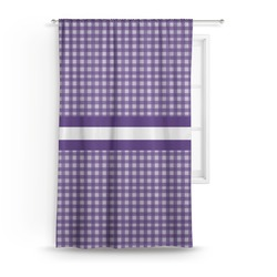 Gingham Print Curtain (Personalized)
