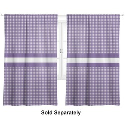 "Gingham Print Curtains - 20""x54"" Panels - Lined (2 Panels Per Set) (Personalized)"