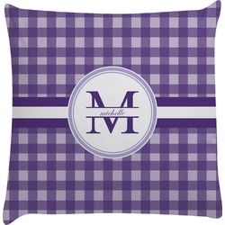 Gingham Print Decorative Pillow Case (Personalized)