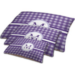 Gingham Print Dog Bed w/ Name and Initial