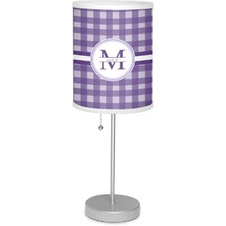 "Gingham Print 7"" Drum Lamp with Shade (Personalized)"