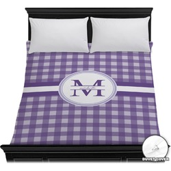 Gingham Print Duvet Cover - Full / Queen (Personalized)