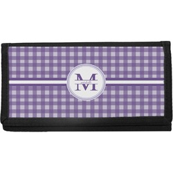 Gingham Print Canvas Checkbook Cover (Personalized)