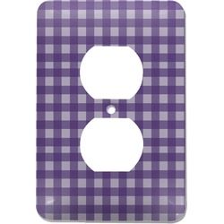 Gingham Print Electric Outlet Plate (Personalized)