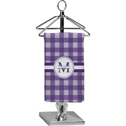 Gingham Print Finger Tip Towel - Full Print (Personalized)
