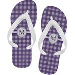 Gingham Print Flip Flops (Personalized)