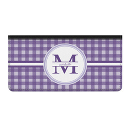 Gingham Print Genuine Leather Checkbook Cover (Personalized)