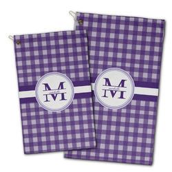 Gingham Print Golf Towel - Full Print w/ Name and Initial