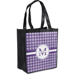 Gingham Print Grocery Bag (Personalized)