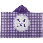 Gingham Print Kids Hooded Towel (Personalized)