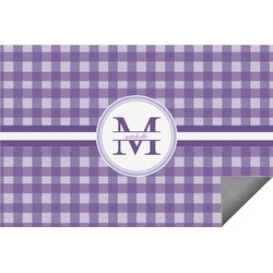 Gingham Print Indoor / Outdoor Rug (Personalized)