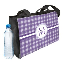 Gingham Print Ladies Workout Bag (Personalized)