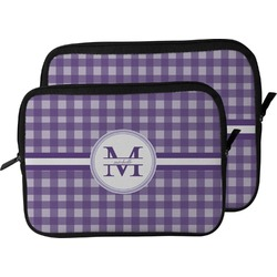 Gingham Print Laptop Sleeve / Case (Personalized)