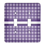 Gingham Print Light Switch Cover (2 Toggle Plate) (Personalized)