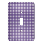 Gingham Print Light Switch Covers (Personalized)