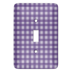 Gingham Print Light Switch Cover (Single Toggle) (Personalized)