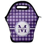 Gingham Print Lunch Bag w/ Name and Initial